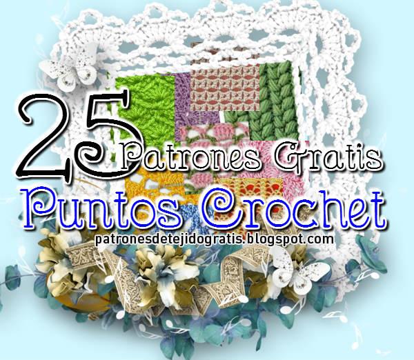 25 puntos crochet con esquemas