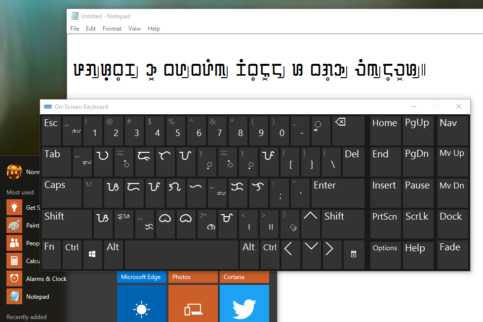 how to choose keyboard layout in windows 10