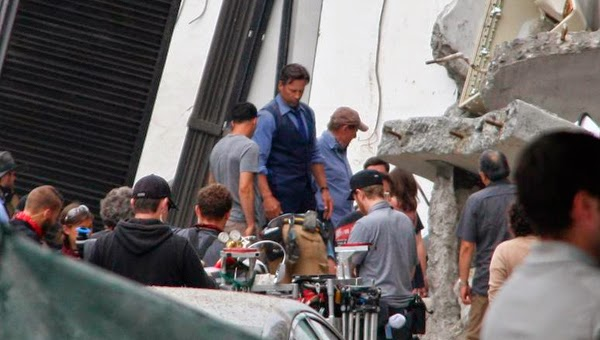 "Ben Affleck en el rodaje de ""Batman V Superman: Dawn of Justice"""