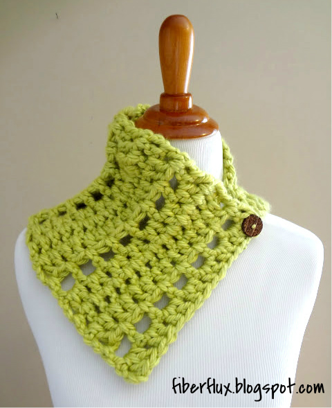 Yarn Companies Free Crochet Patterns : Free Crochet PatternKey Lime Neck Wrap