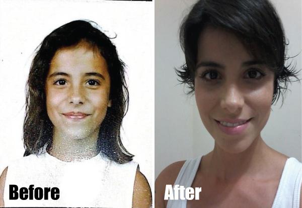Ante e depois Penélope Pelegrini do blog Espacinho Feminino