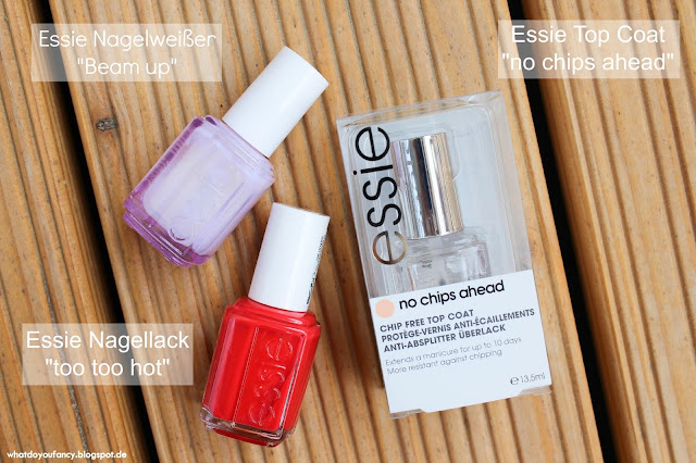 "Essie ""too too hot"" + ""no chips ahead"""