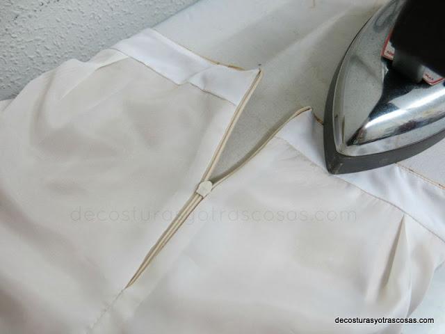 falda forrada tutorial paso a paso