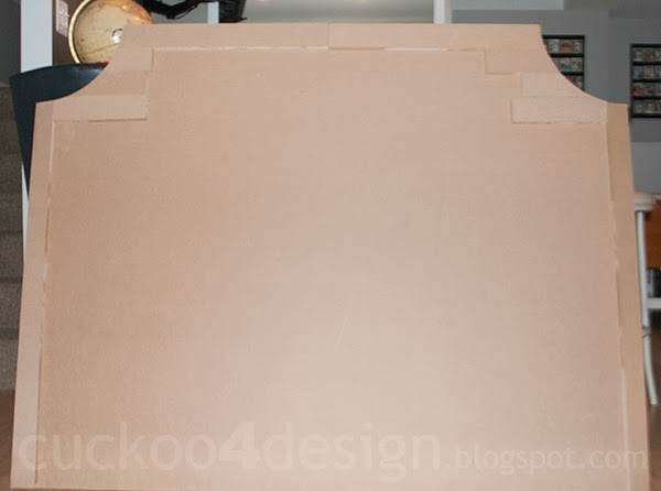 DIY MDF headboard shape