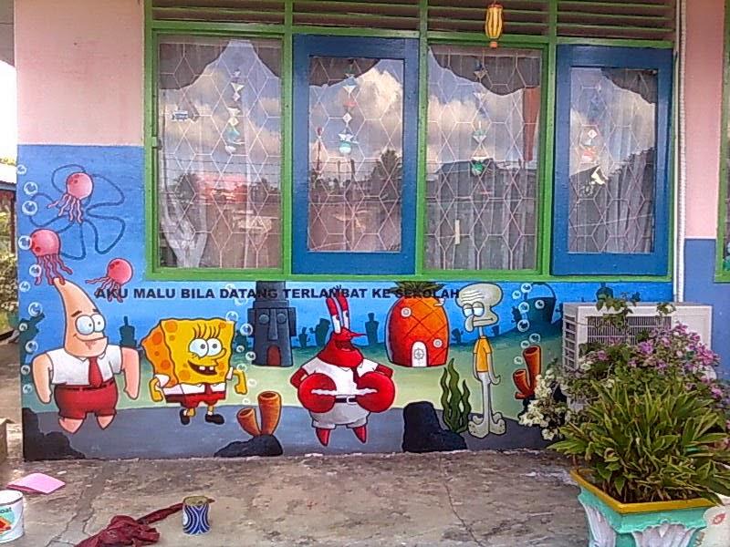 Jasa lukis tembok area balikpapan lukisan dinding taman for Mural kartun