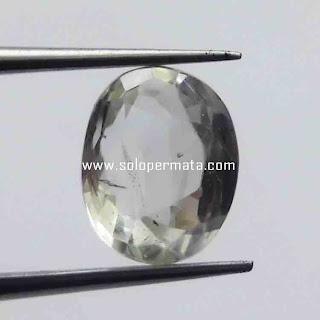Batu Permata Natural White Sapphire