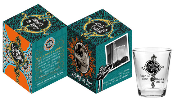 Cruise Wedding Welcome Kit Custom Shot Glass Save the Dates