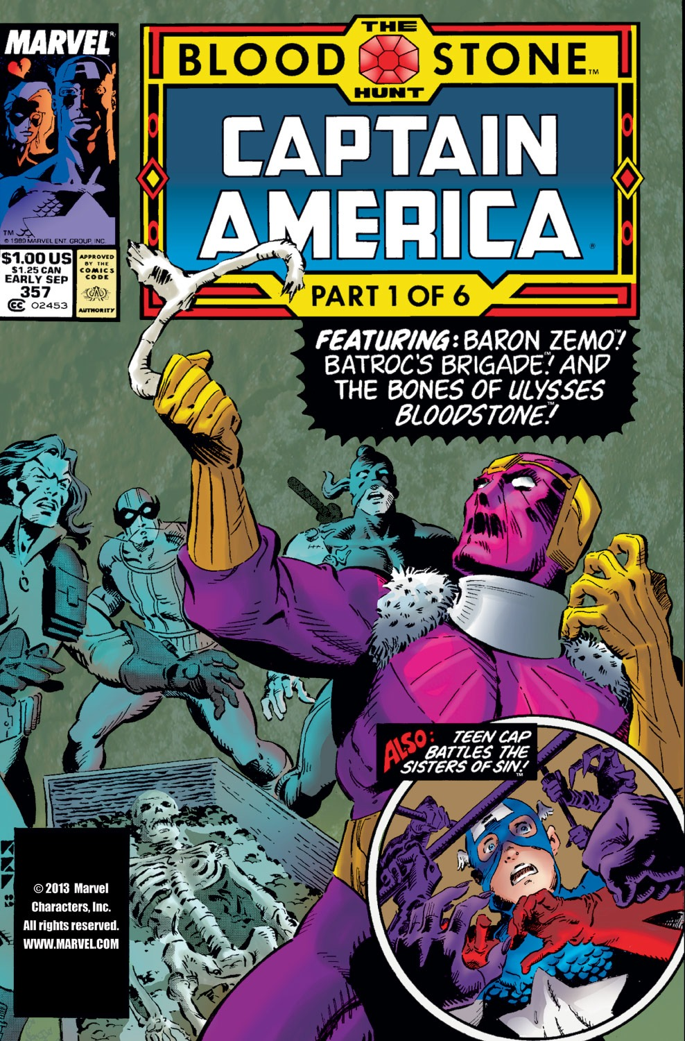Captain America (1968) Issue #357 #290 - English 1