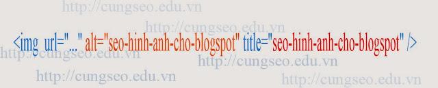 Hướng dẫn cách seo hình ảnh cho blogspot, wordpress, website