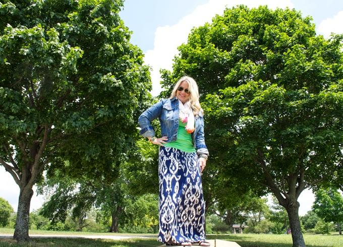 ikat-maxi-skirt-denim-jacket