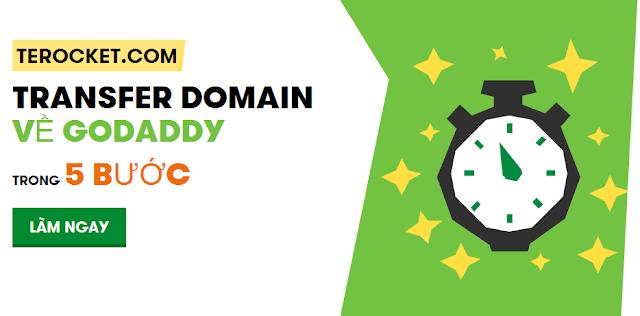 Chỉ 5 bước, bạn đã có thể chuyển tên miền của mình về GoDaddy
