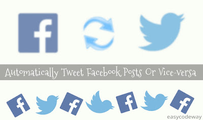 Auto post tweets to Facebook or vice versa