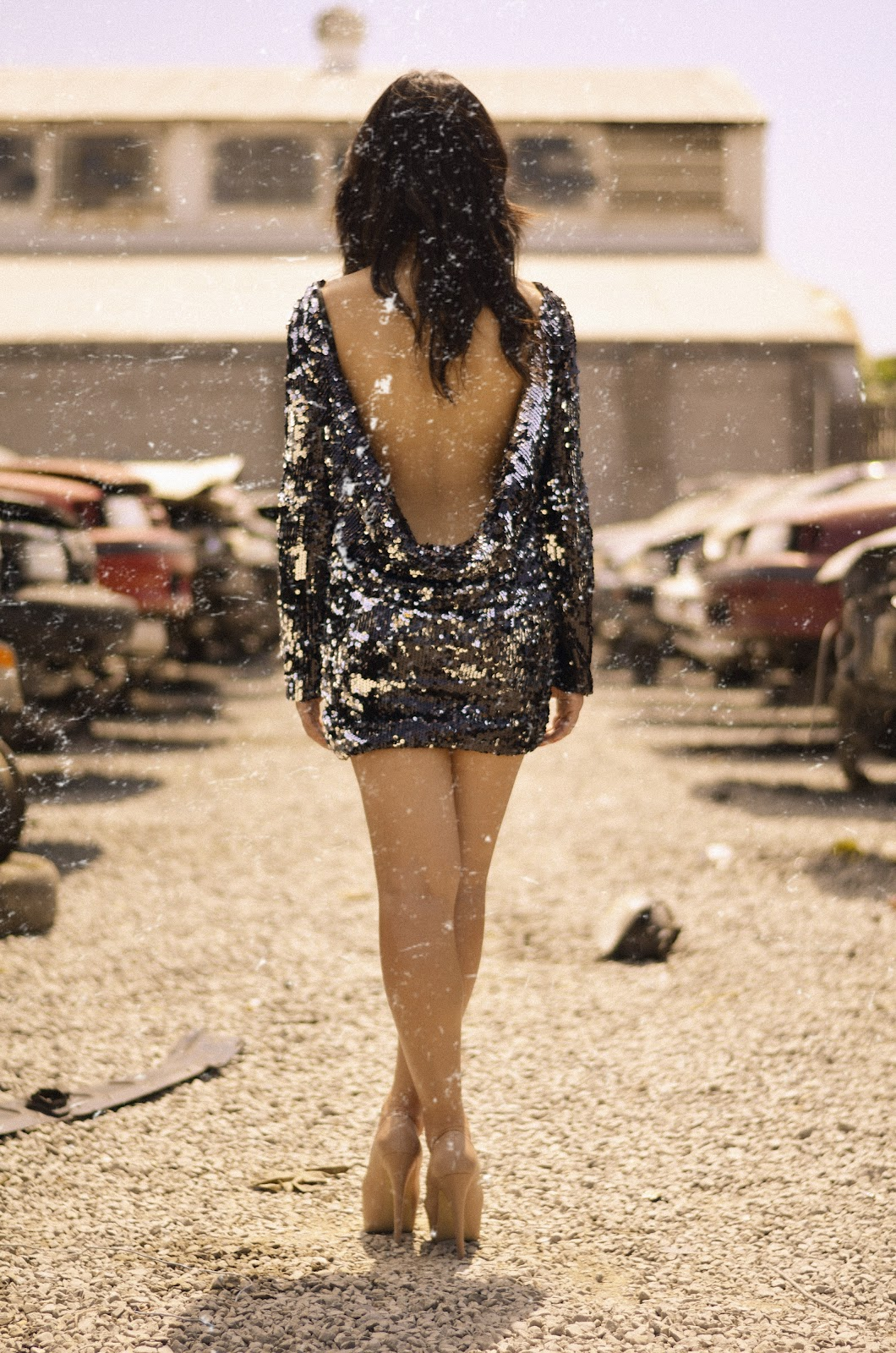 nasty gal, nasty gal sequin dress, nasty gal cruel mirage dress, nasty gal cruel mirage sequin dress, nasty gal drape back dress, nasty gal cruel mirage drape back sequin dress, steve madden nude heels, steve madden dejavu