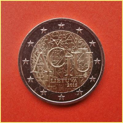 2 Euros Lituania 2015 lituano