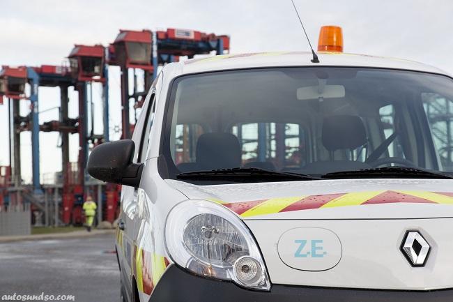 Renault Kangoo Maxi Z.E. im Hamburger Hafen