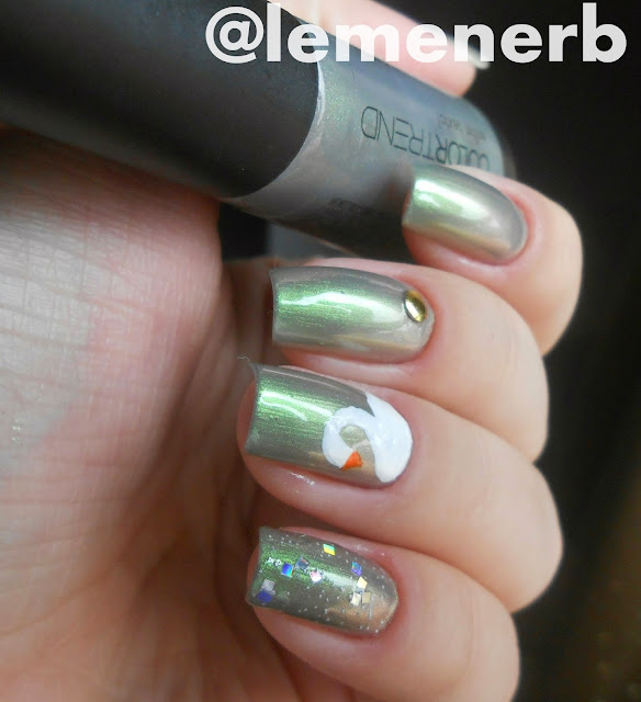 nail art cisne
