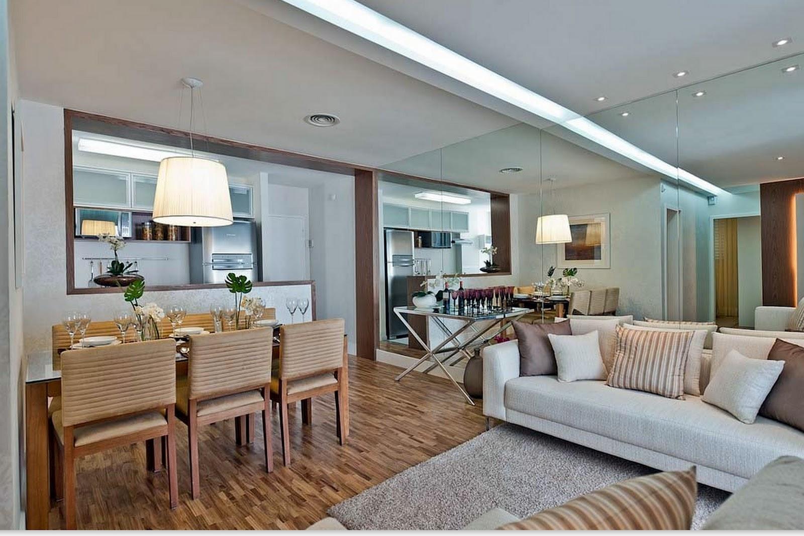 Toques e retoques uma sala e dois ambientes for Modelos de divisiones de sala y comedor