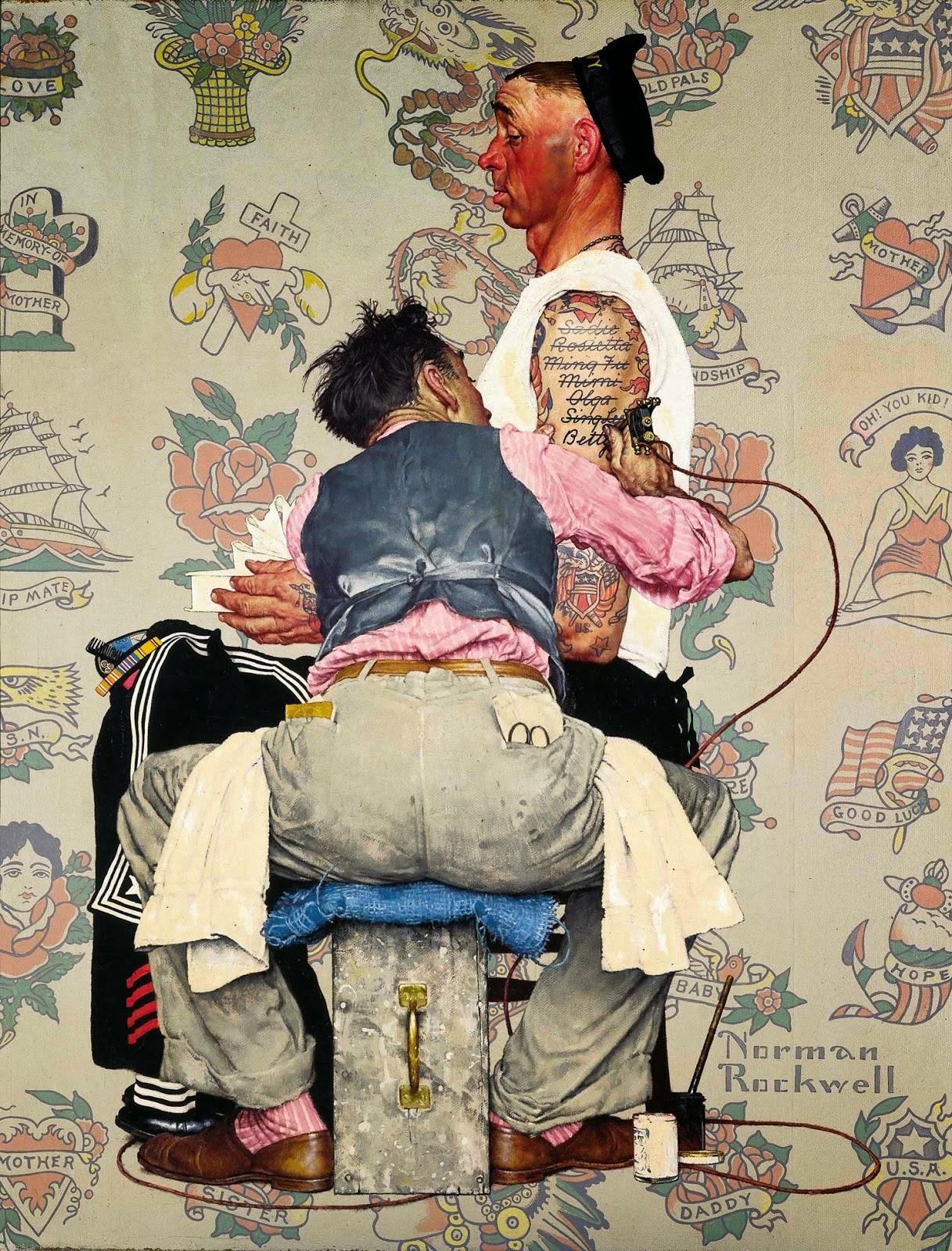 Norman rockwell virtuoso del dibujo tan unico for Norman rockwell tattoo