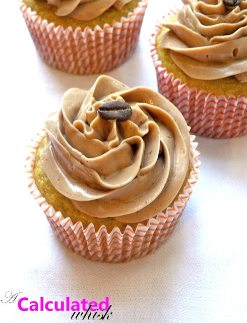 Grain-free Vanilla Bean Cupcakes with Mocha Buttercream (Gluten free, Nut free) | acalculatedwhisk.com