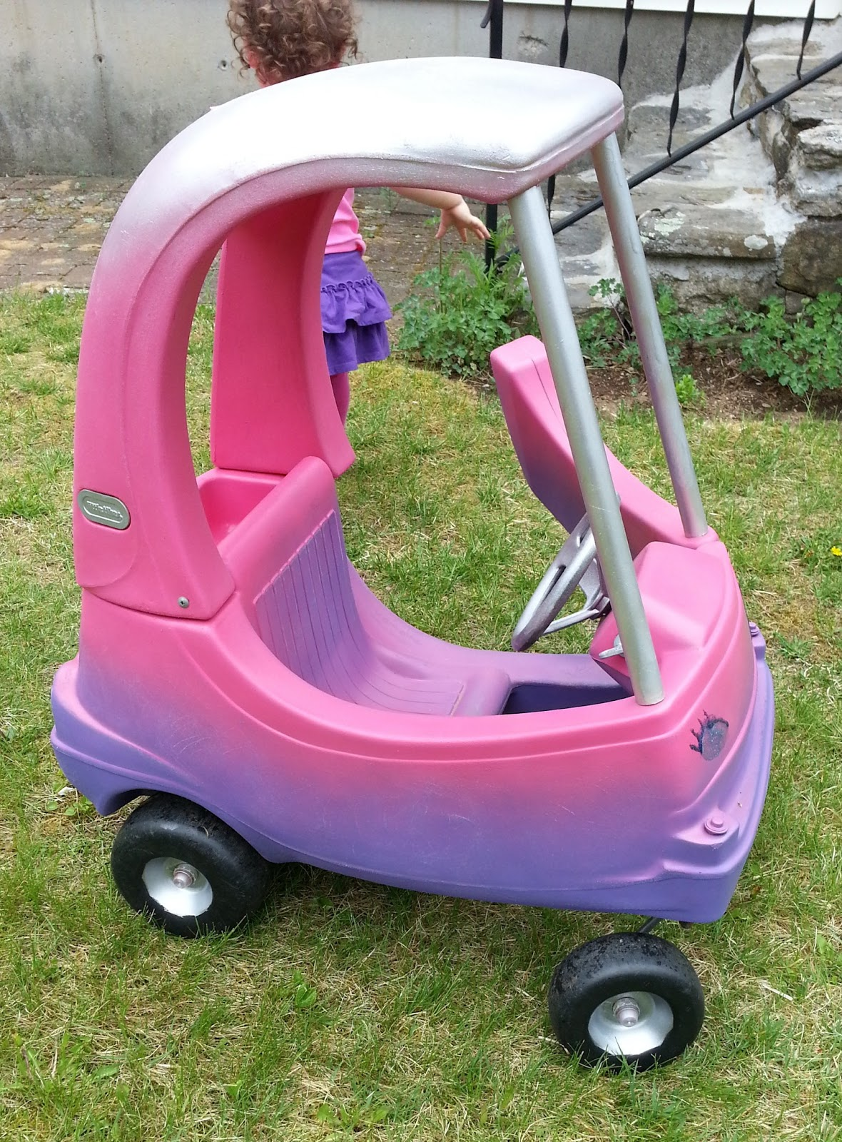 Stay At Home Stina Diy Cozy Coupe Paint Job