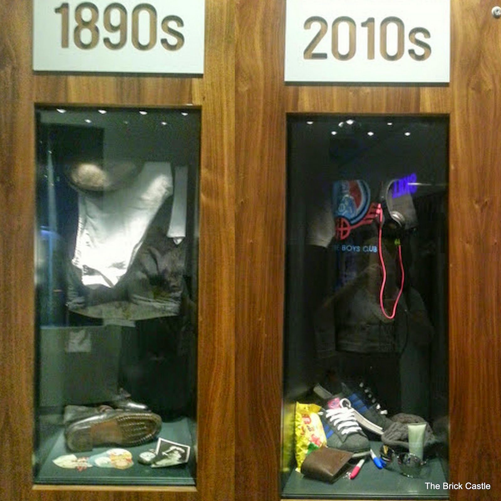 The National Football Museum at Urbis, Manchester Dressing Room Lockers from 1890's and 2010's