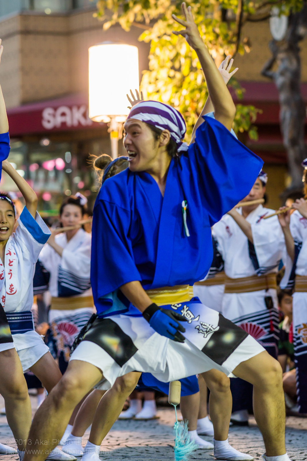 三鷹阿波踊り、富道連の男踊り