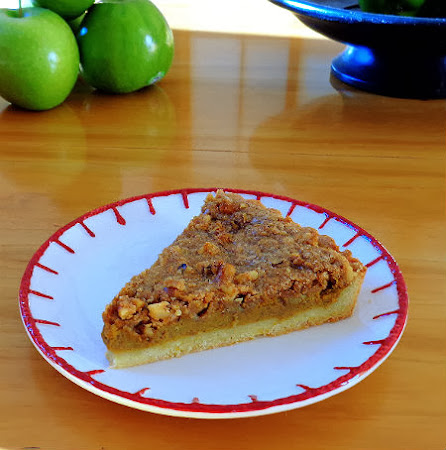 Bourbon Pumpkin Tart with Walnut Streusel Topping ...from the kitchen ...