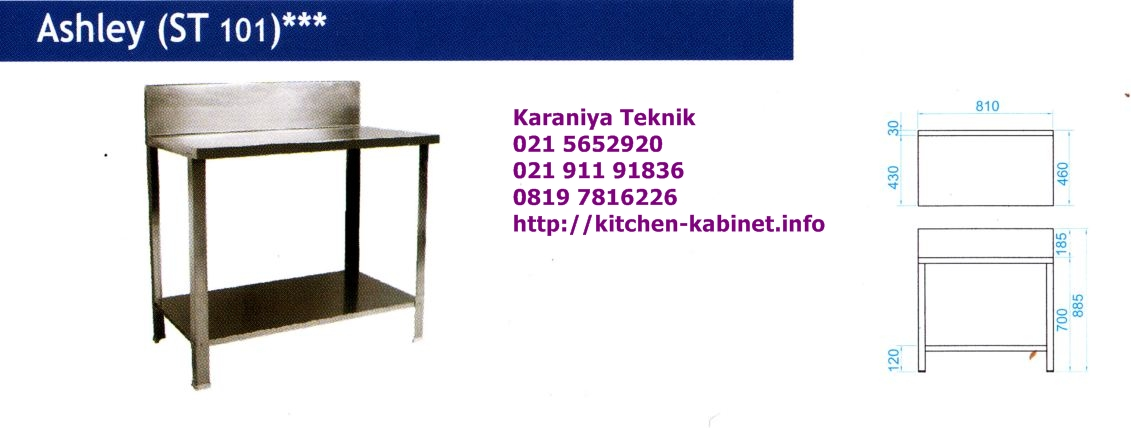 Kitchen sink set table royal for Kitchen set royal surabaya
