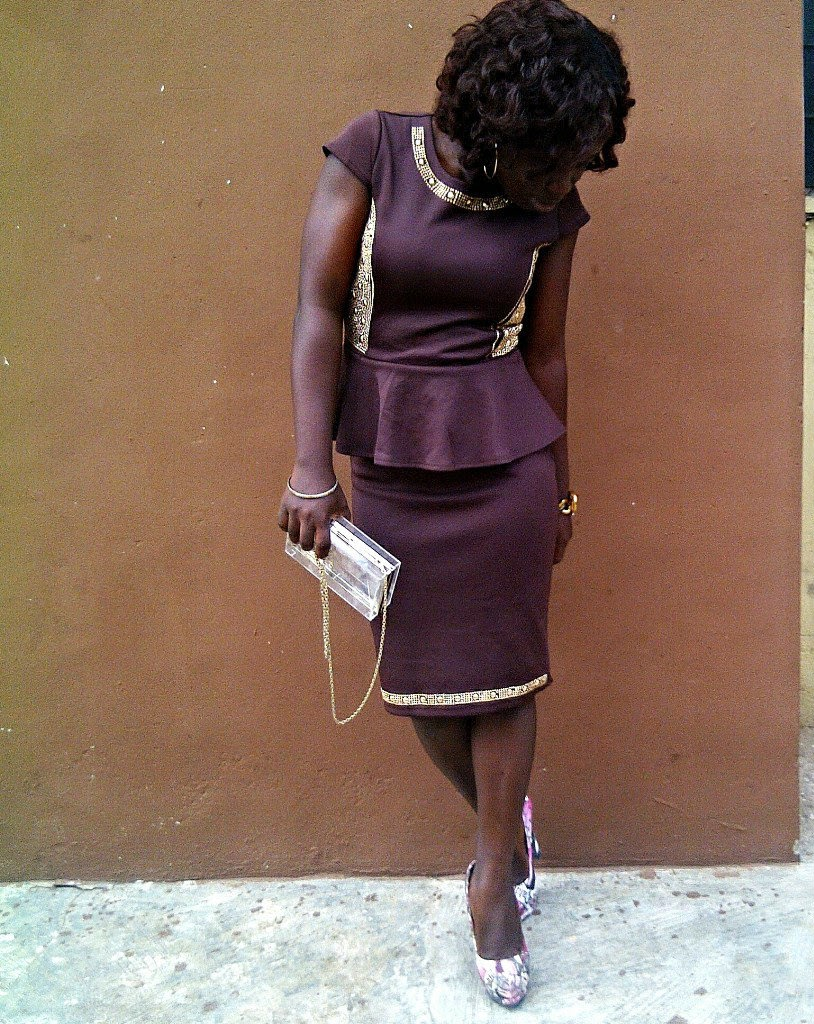 peplum gown