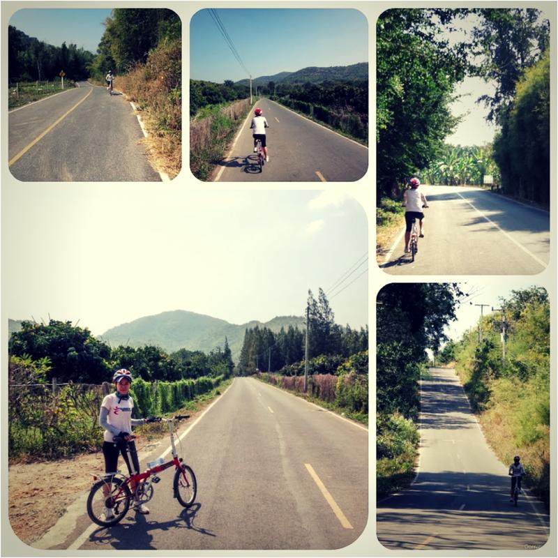 ระหว่างทางปั่นจักรยาน สวนผึ้ง ราชบุรี