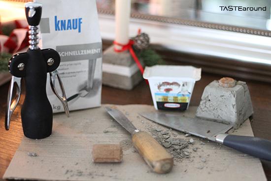 Taste around steiniger adventkranz beton zu weihnachten - Aldi kerzenhalter ...