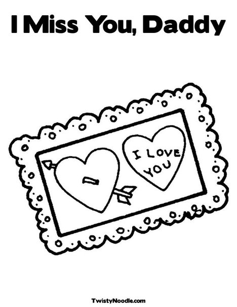i miss daddy coloring pages - photo#4