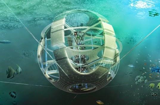 Podvodních města blízké budoucnosti: mrakodrapy pod vodou