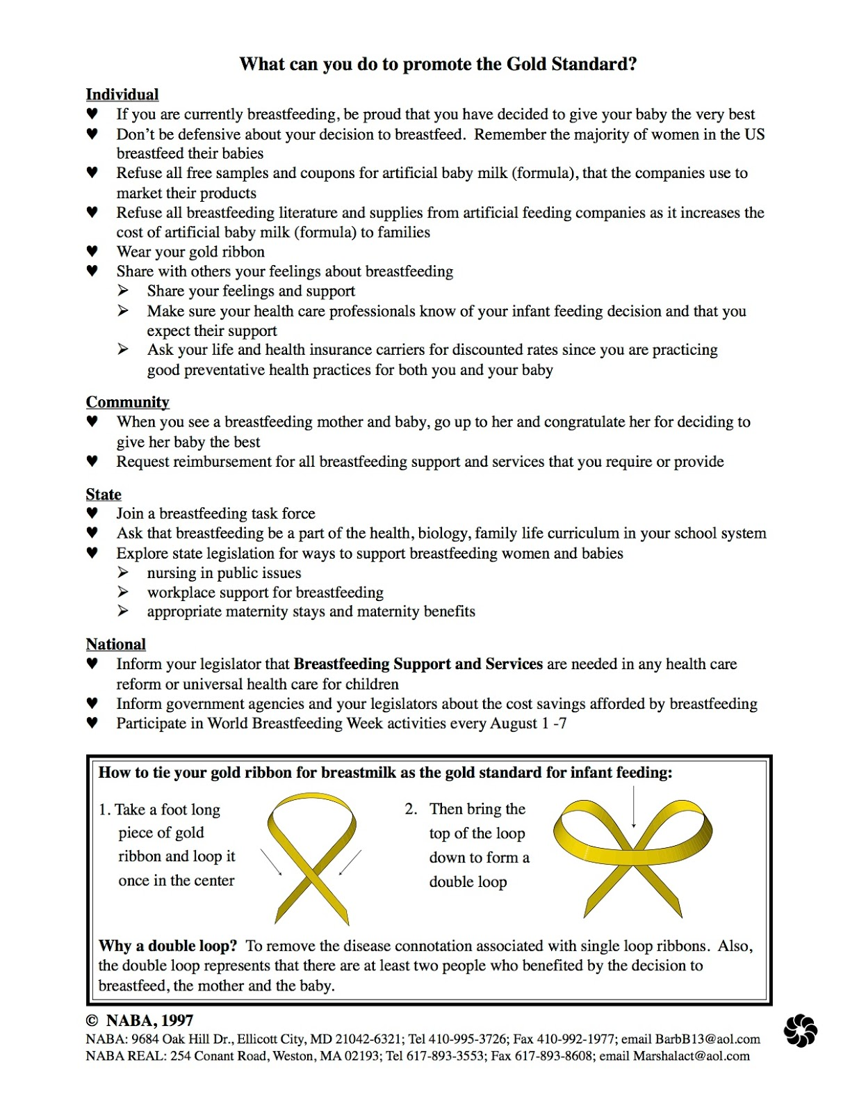 Chronicles Of A Nursing Mom The Symbol Of Breastfeeding Golden Bow