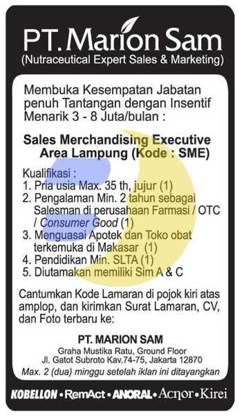 Lowongan Kerja PT. PT. MARION SAM Lampung
