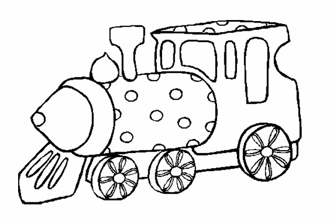 بداية القطار البخاري مرسوم للتلوين