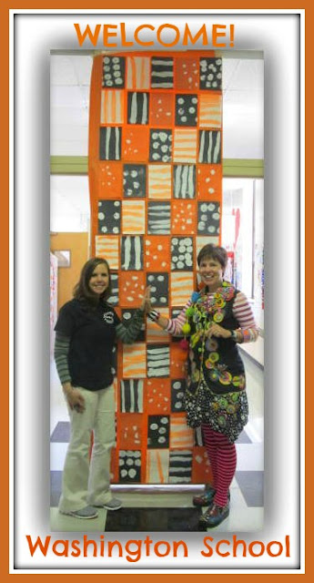 photo of: Quilt Welcome to Washington School via RainbowsWithinReach