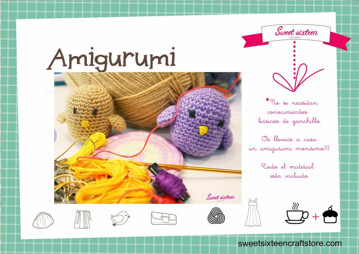 Taller monográfico INICICAIÓN AMIGURUMI Sweet sixteen craft store