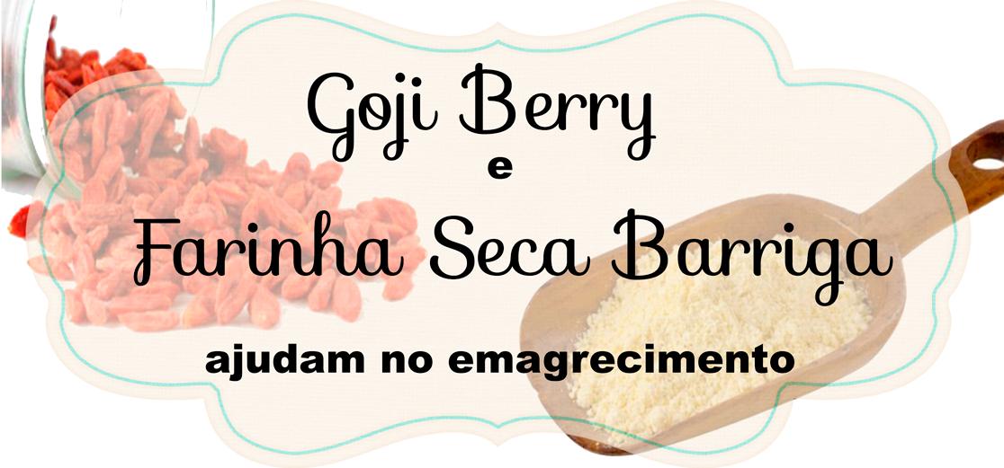 Goji Berry, Farinha Seca Barriga, emagrecer, perder peso