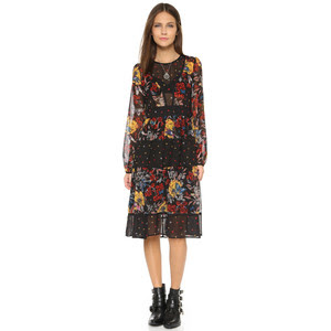 Shopbop mixed print dress