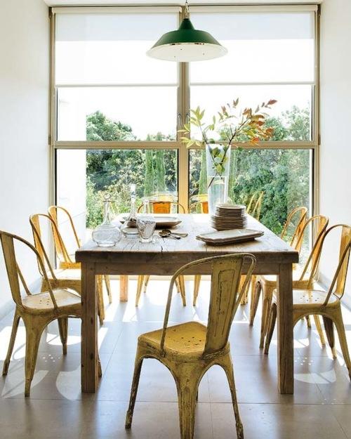 Neo arquitecturaymas silla tolix en comedores rusticos for Sillas comedor amarillas