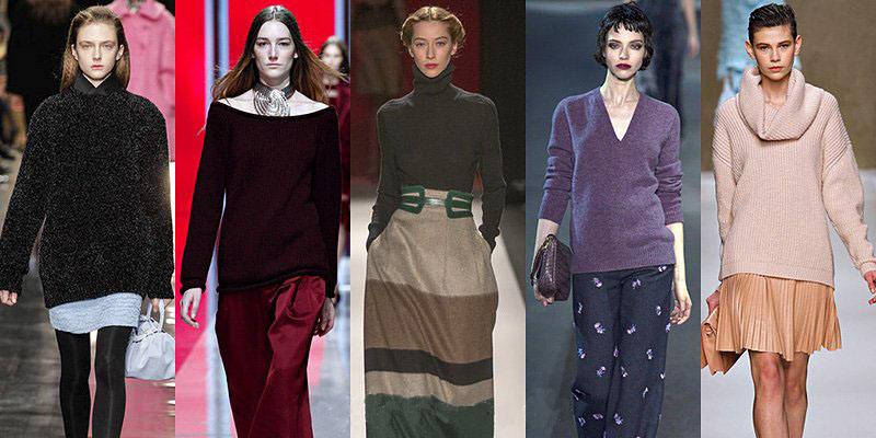 Fall Winter 2013 Women's Fashion Sweaters Trends