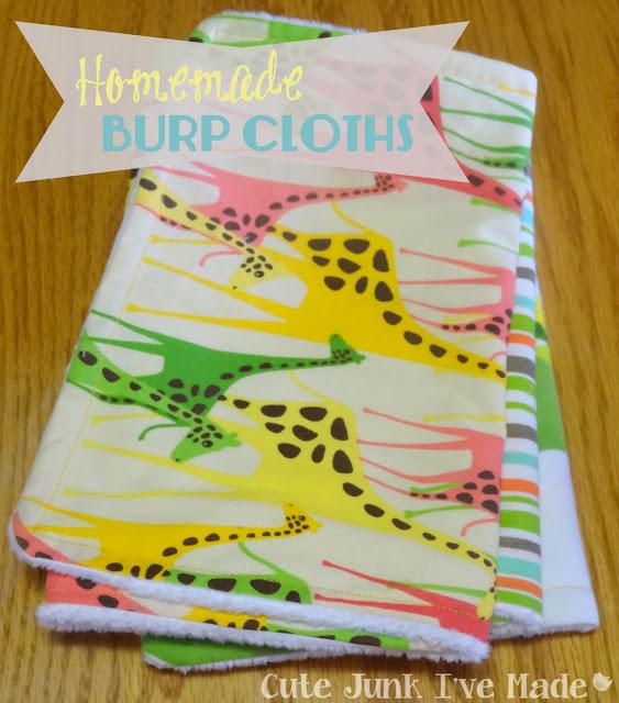 One-Hour Burp Cloths | Cute Junk I've Made