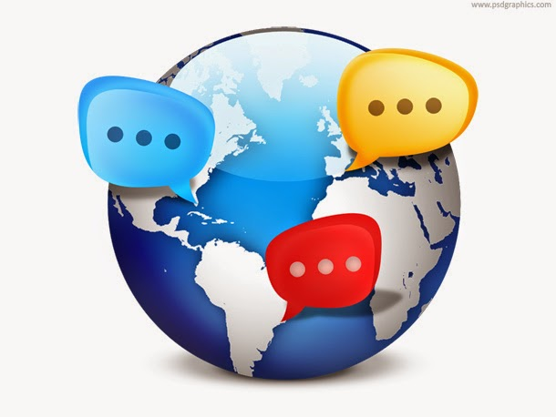 Global Social Network Icon PSD