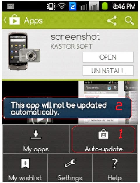 how to stop auto updates on android phone
