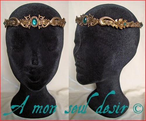 Couronne médiévale dragon bronze bijouterie medieval fantasy renaissance crown Daenerys Targaryen Jewelry Dragonis