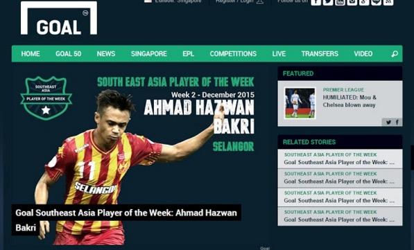 Penyerang Selangor dipilih pemain terbaik Asia Tenggara
