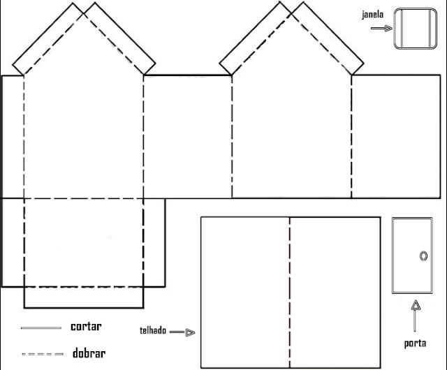 Moldes de casas para imprimir recortar e montar ou for Crear mi casa en 3d