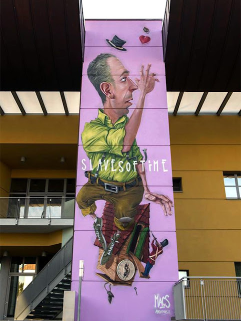 Street Art Piece By Macs For the 24th Biennale Del Muro Dipinto In Dozza, Italy 1