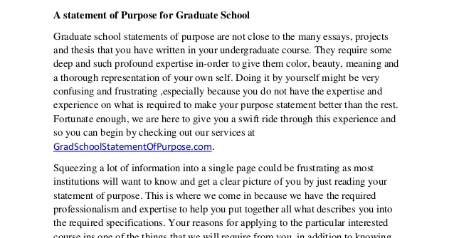 ... purpose, personal statement and essay for American graduate programs